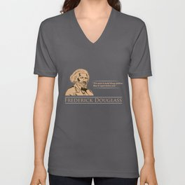 Frederick Douglass Quote for Black History Month product Unisex V-Neck