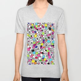 Circles and Other Shapes and colors Unisex V-Neck