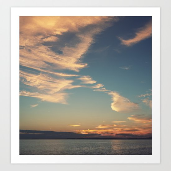 Sundrenched Skies Art Print