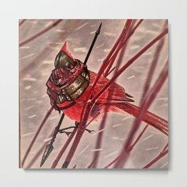 Birds In Armor 6 Metal Print