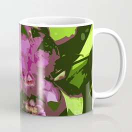 Pink Orchid Abstract Coffee Mug