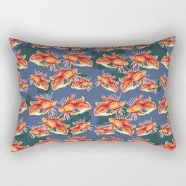 goldfish on a blue background Rectangular Pillow