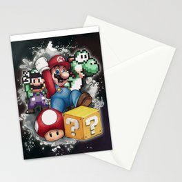 Mario et ses amis Stationery Cards