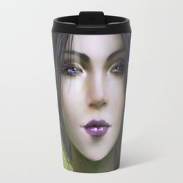Viola - Girl with purple flowers in her hair Travel Mug