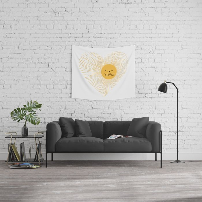 You are the Sunshine of my heart Wall Tapestry