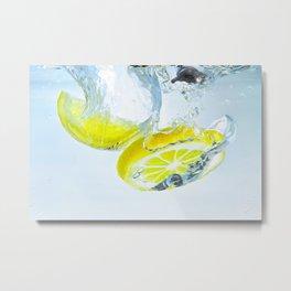 lemon splash Metal Print