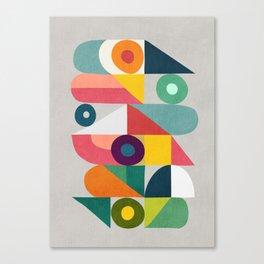 Tick Tock Machine Canvas Print