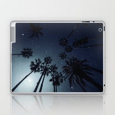 Palm Trees, Night Sky, Stars, Moon Laptop & iPad Skin