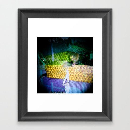 Box Cat Framed Art Print