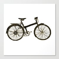 bicycle Canvas Prints featuring Bicycle by chyworks