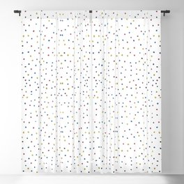 Seamless colourful dots Blackout Curtain