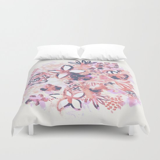 Pastel Flowers Duvet Cover