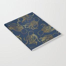 Gold Squid (Indigo) Notebook