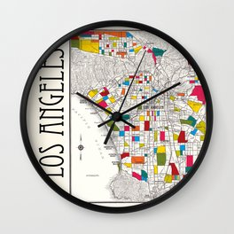 Los Angeles Streets Wall Clock