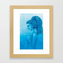 The girl with the dreads Framed Art Print