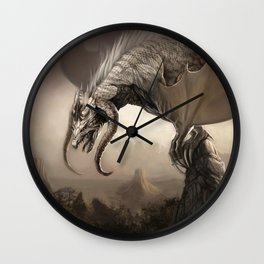 White Dragon King - Lord of the Dragons Wall Clock