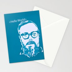 Hello World - This is a portrait of Dennis Ritchie  Stationery Cards