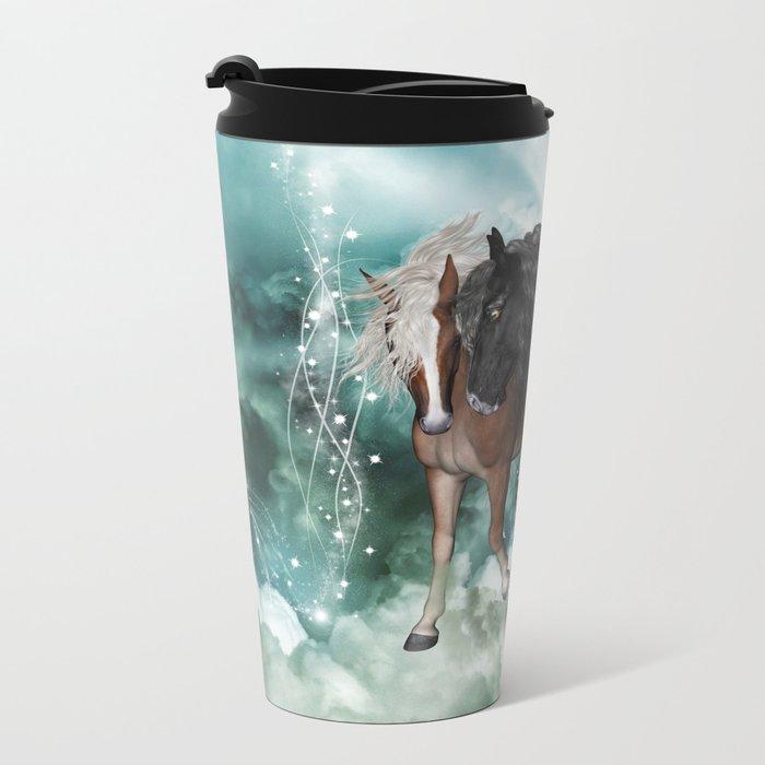 Wonderful couple horses Metal Travel Mug