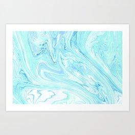 Ocean Marbling Art Print