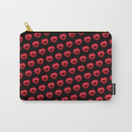 Kisses heart (background black) Carry-All Pouch