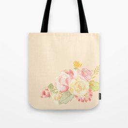 Spring Flowers Peach Tote Bag