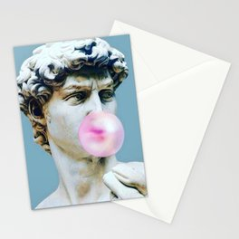 The Statue of David (Michelangelo) with Bubblegum Stationery Cards