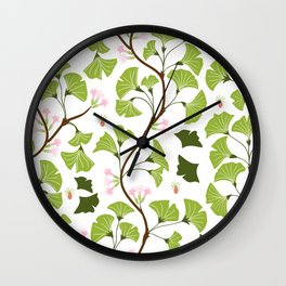 tree leaves #762 Wall Clock