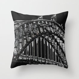 Spot the Walkers on the Bridge 2 Throw Pillow