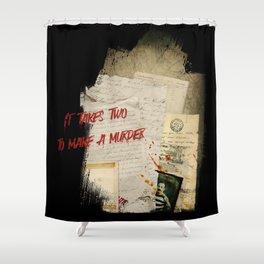 Murder Board Shower Curtain