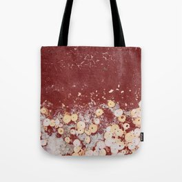 White Dots on Red - JUSTART (c) Tote Bag