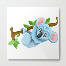 Beautiful koala bear illustration Metal Print