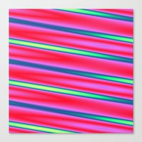 striped Canvas Prints featuring Striped by Angelandspot