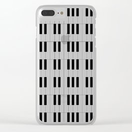 Piano Key Stripes Clear iPhone Case