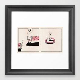 Sausage Dog Love Framed Art Print