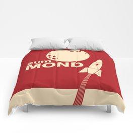 Zum Mond Comforters