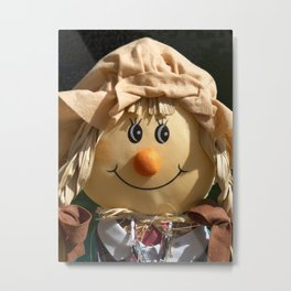 Pretty Polly Scarecrow Metal Print