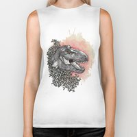 dinosaur Biker Tanks featuring Dinosaur by Gemma Goode