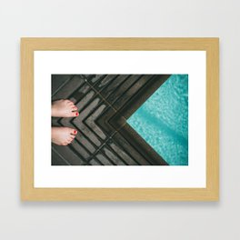 Ready to jump in Framed Art Print
