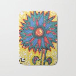 Sunflower Abstract'd Bath Mat