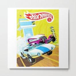 Vintage Redline Era Hot Wheels Demon and Jack Rabbit Special Grand Prix Drag Racing Vintage Poster Metal Print