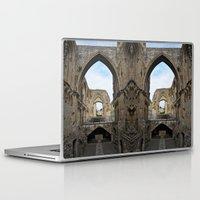 downton abbey Laptop & iPad Skins featuring Glastonbury Abbey by Artemio Studio