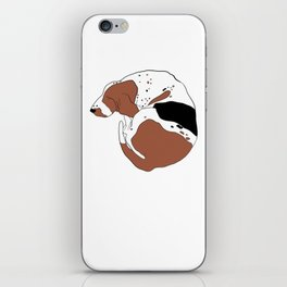 Tricolor Basset Hound iPhone Skin
