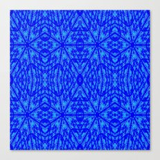 Blue on Blue Floral Pattern Canvas Print