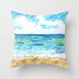 The Beach Front Throw Pillow