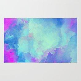 Watercolor abstract art Rug