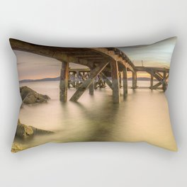 Down Below the Jetty Rectangular Pillow