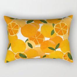 mediterranean oranges still life  Rectangular Pillow