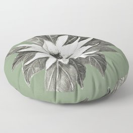 Florida Flower with Green Background Floor Pillow
