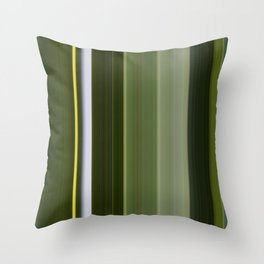 Stripes in Shades of Green Throw Pillow