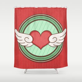 Flying heart Shower Curtain